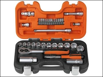 "Bahco S330 34pc Socket Set MM/AF 1/4"" & 3/8"" Drive 