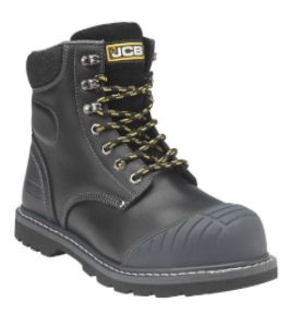Black/Honey Boot with Scuff Cap & Side