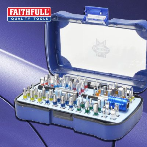 Faithfull Professional Security Screwdriver Bit Set 60 Piece