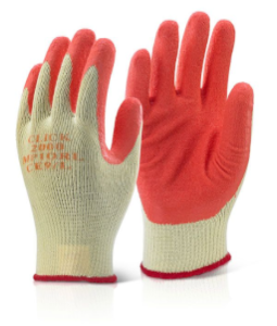 Orange Latex Grippa Glove (Pk 10)