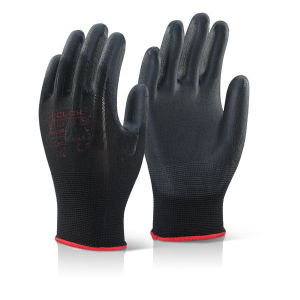 PU Coated Glove Black/Grey (Pk 10)
