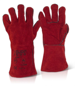 Welding Gauntlet Red | Welding Accessories | Gloves | Millenniumsuppliesshop.co.uk