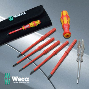 Wera Laser-tip VDE Screwdriver Set 6 Piece with 2 Free Screw Grippers